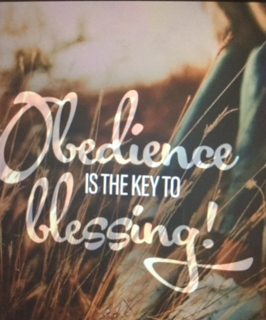 OBEDIENCE BRINGS YOU THE BLESSINGS OF GOD